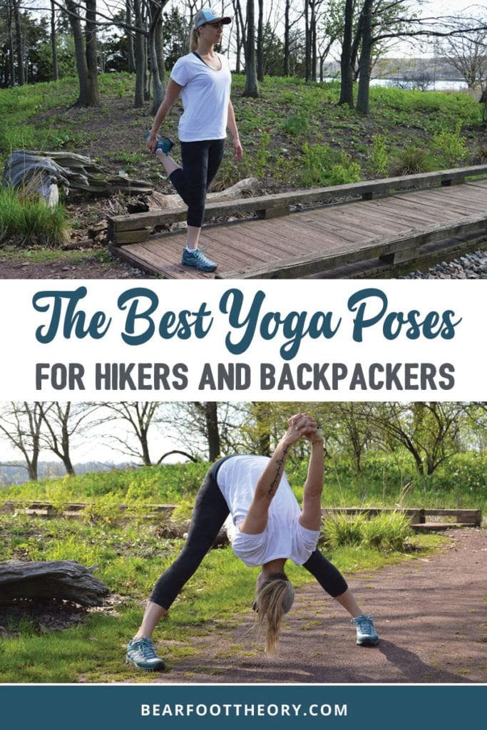 The best yoga stretches & poses for hikers to keep your body safe, injury-free and pain-free so you can enjoy more hikes and adventures. Doing simple yoga stretches and yoga poses can relieve tension and soreness from your feet, knees, low back, and shoulders while you're on the trail.
