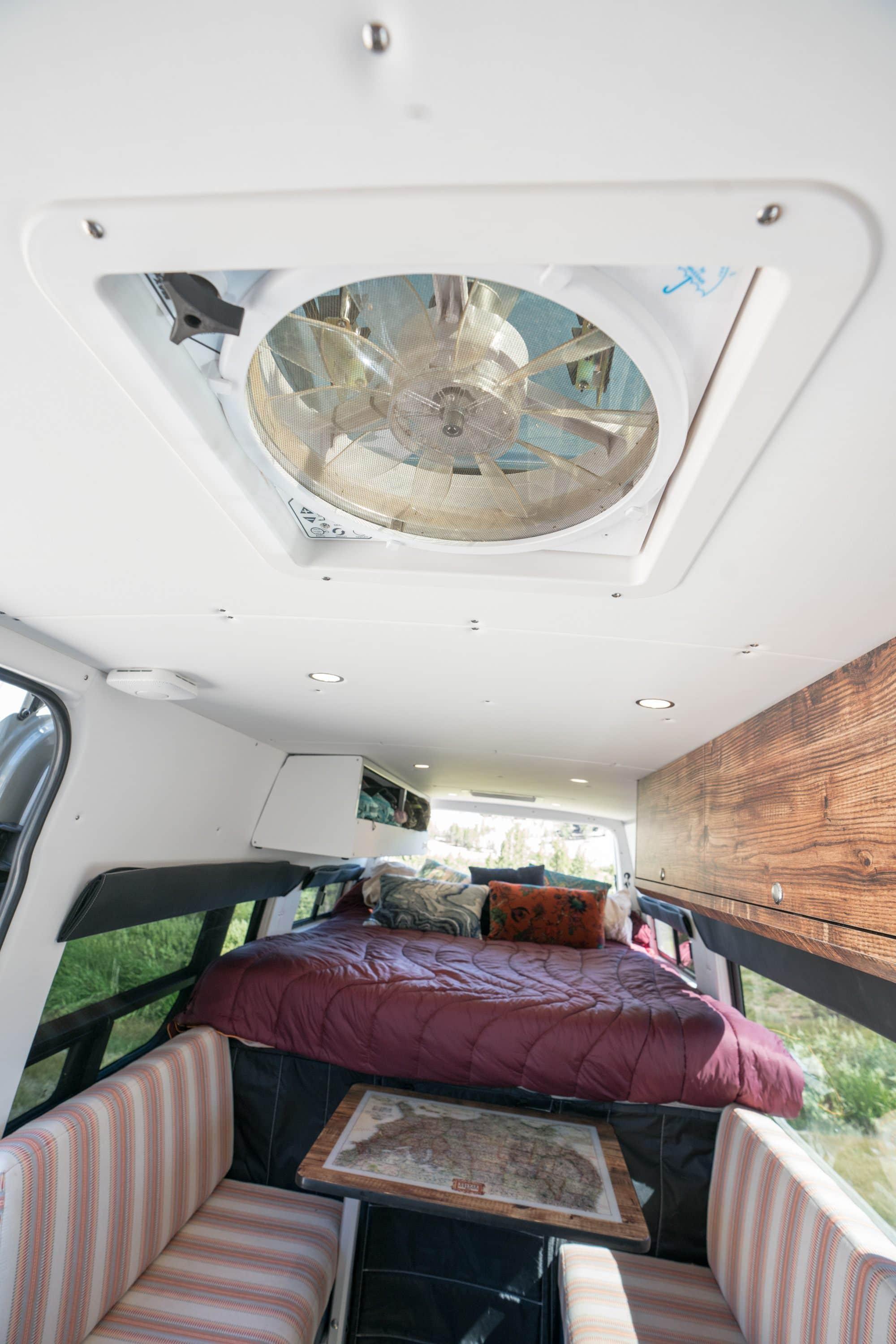 Roof vents in a Sprinter Van