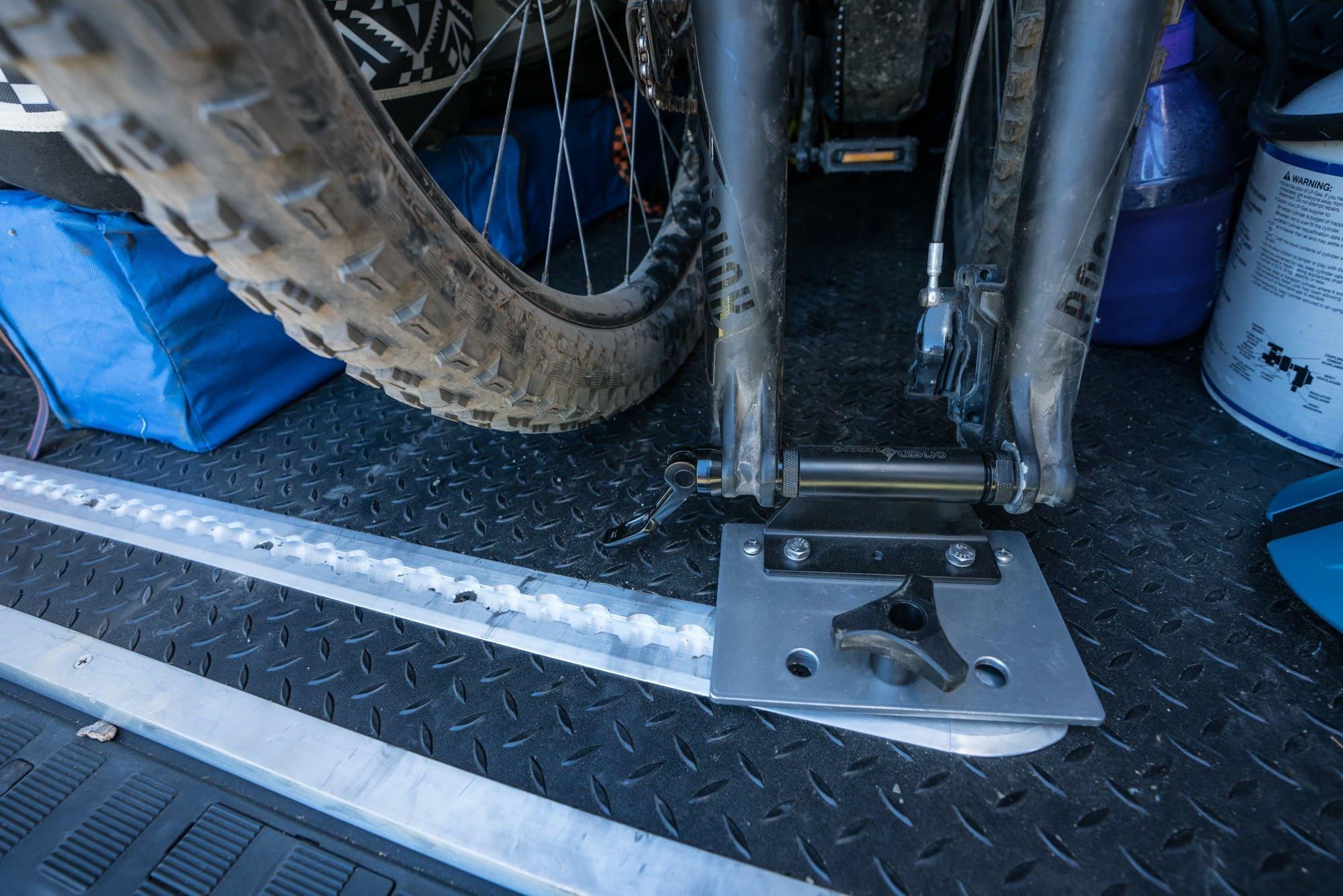 Bike storage in Sprinter Van