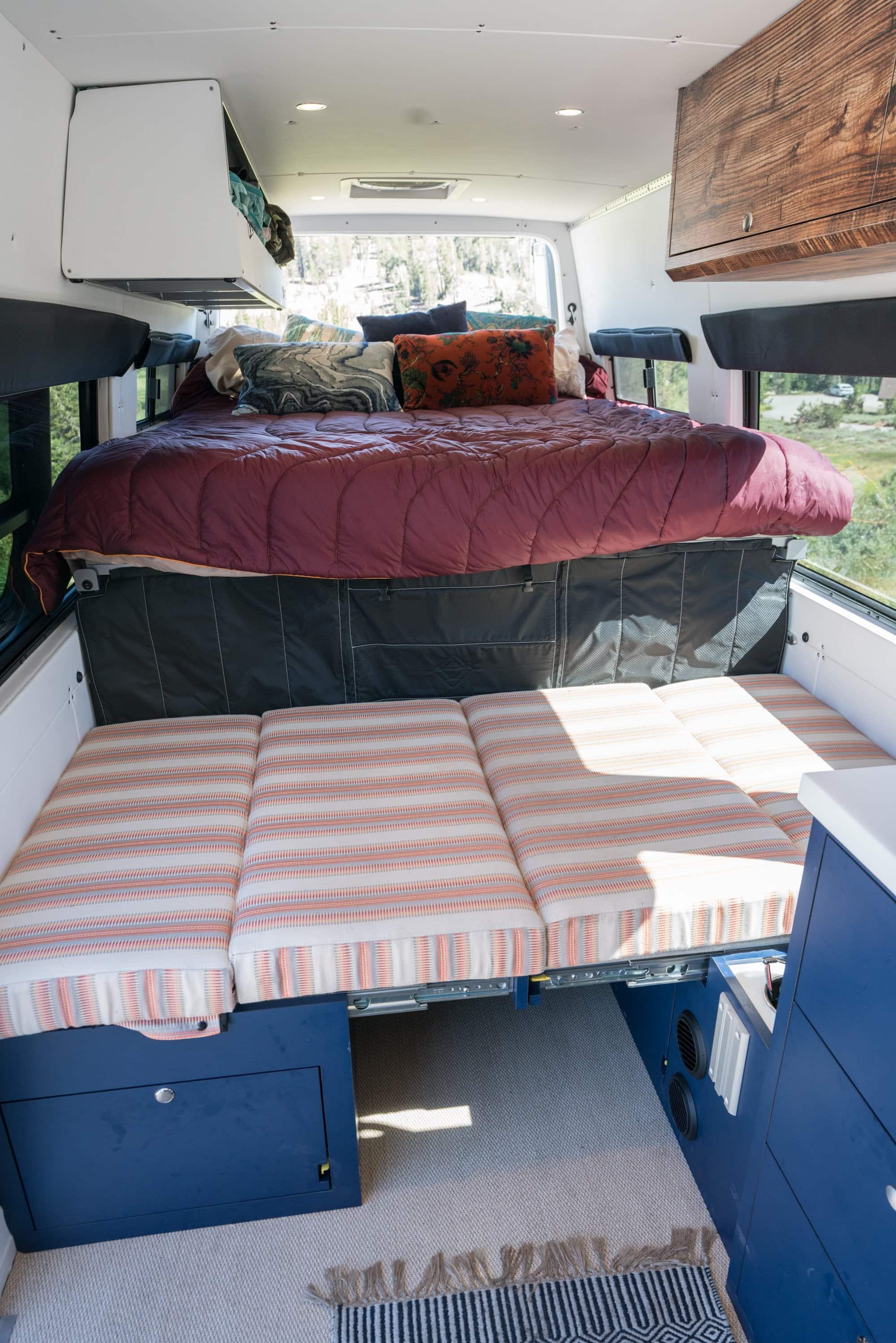 Sprinter Van dinette built by Outside Van