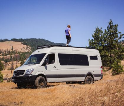 "Trying to decide between a 144"" vs 170"" Sprinter Van? Learn the pros and cons of each wheelbase for part or full-time vanlife."