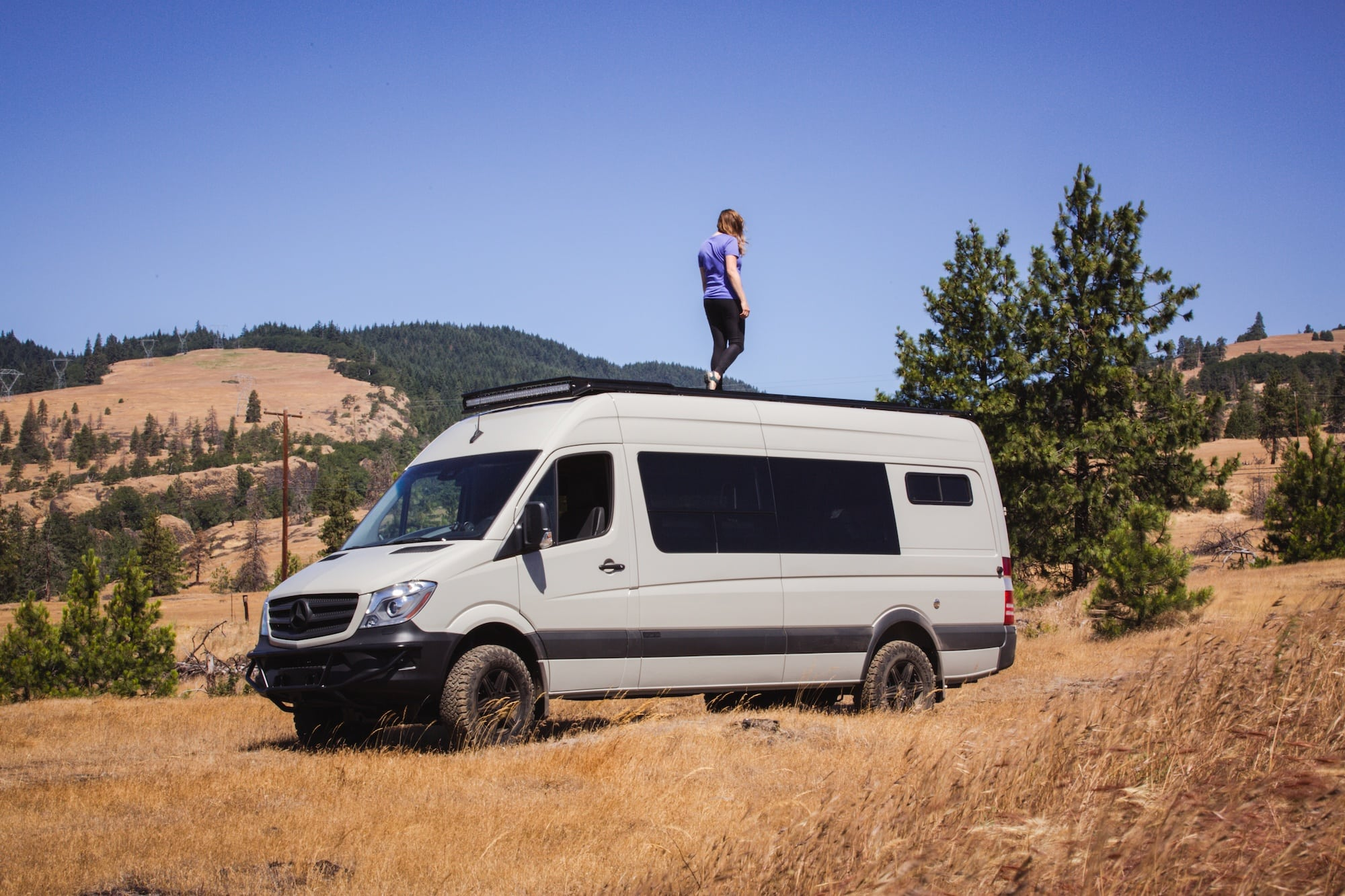 """Tour Bearfoot Theory's Outside Van Sprinter Van conversion. This 4x4 170"""" Sprinter camper has everything you need for off-the-grid vanlife adventures."""