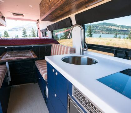 "Tour Bearfoot Theory's Outside Van Sprinter Van conversion. This 4x4 170"" Sprinter camper has everything you need for off-the-grid vanlife adventures."