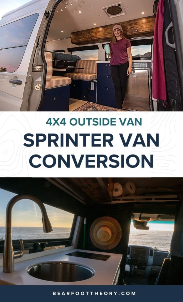 Tour my 4x4 Outside Van Sprinter Van conversion. After 50,000 and two years of full time living, I share what I love and what I'd do differently in my next van build.