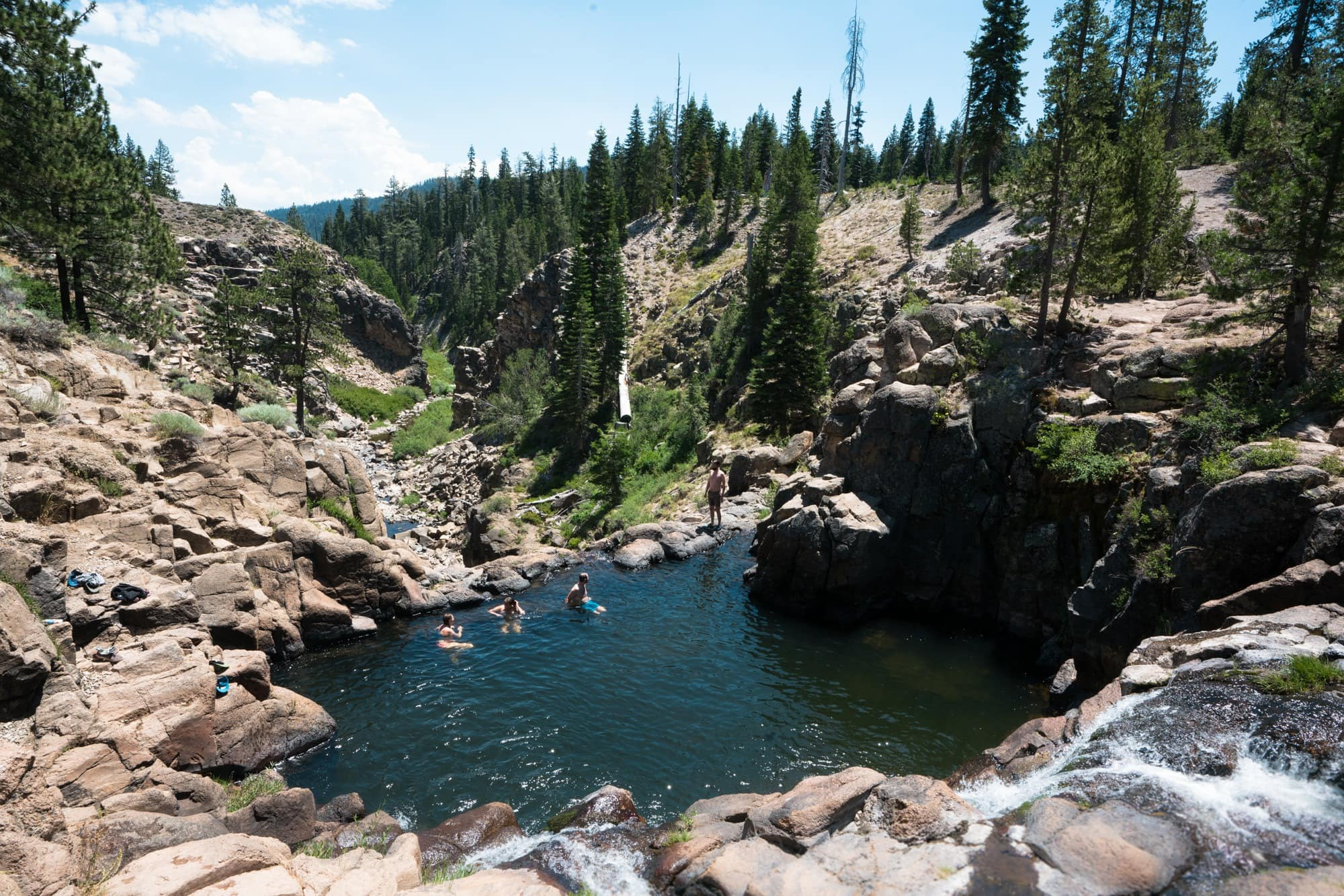Webber Falls // Planning an adventure-packed vacation to Lake Tahoe? Here are 12 of the best things to do around Lake Tahoe for the outdoor enthusiast.