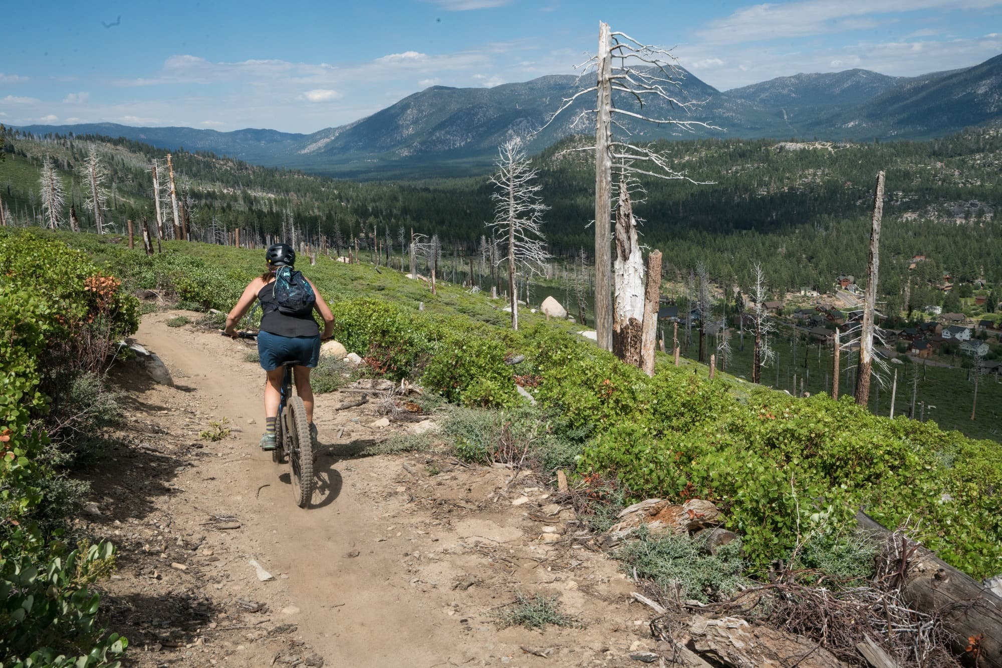 Mountain Bike the Angora Ridge Trail // Planning an adventure-packed vacation to Lake Tahoe? Here are 12 of the best things to do around Lake Tahoe for the outdoor enthusiast.