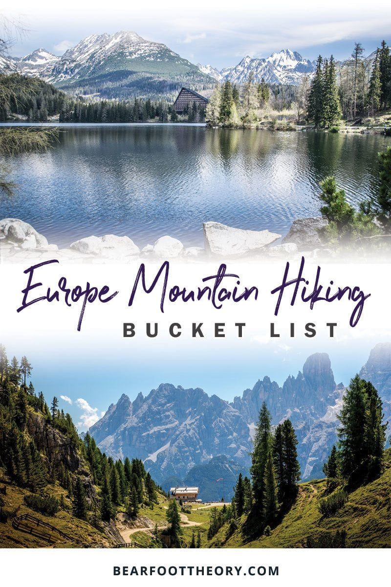 Ease your wanderlust with our European hiking trail bucket list where we share mountain destinations that offer the best hiking in Europe. Take us now!