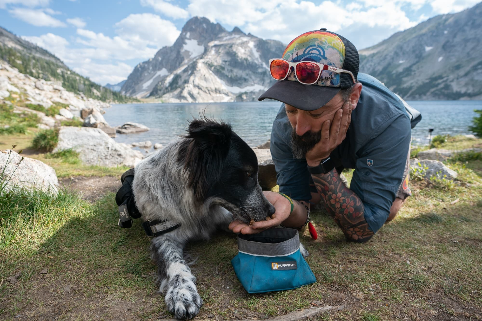 Ruffwear collapsible dog bowls are great for hiking and camping