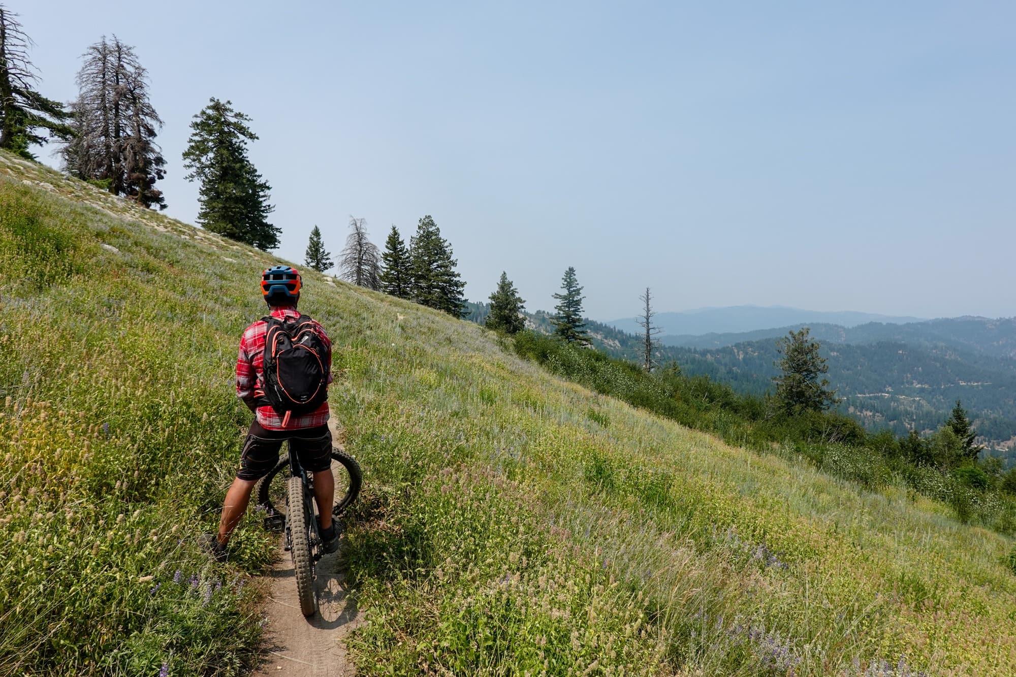 Biking at Bogus Basin Mountain in Boise Idaho