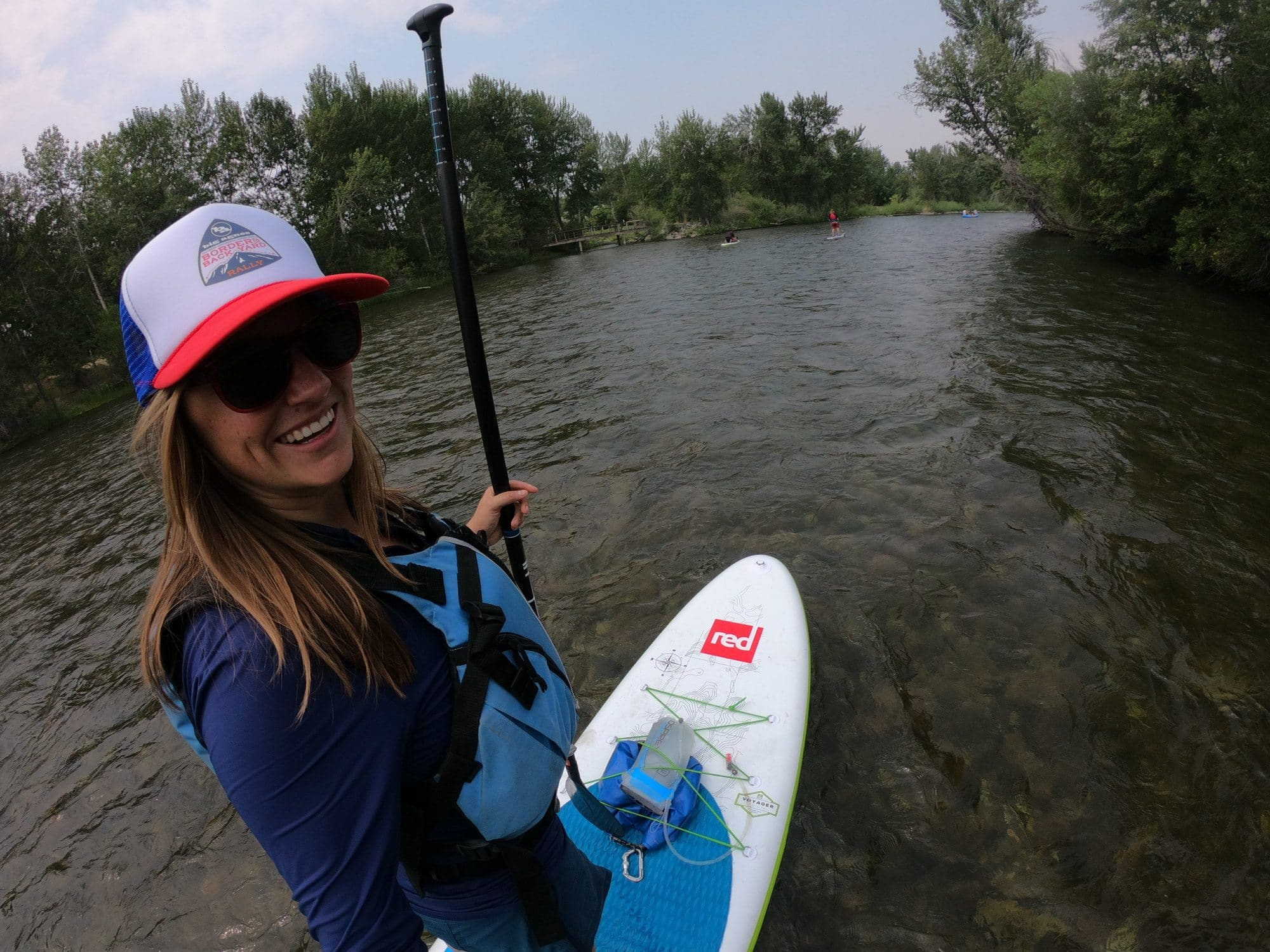 Stand-up paddle boarding on the Boise River