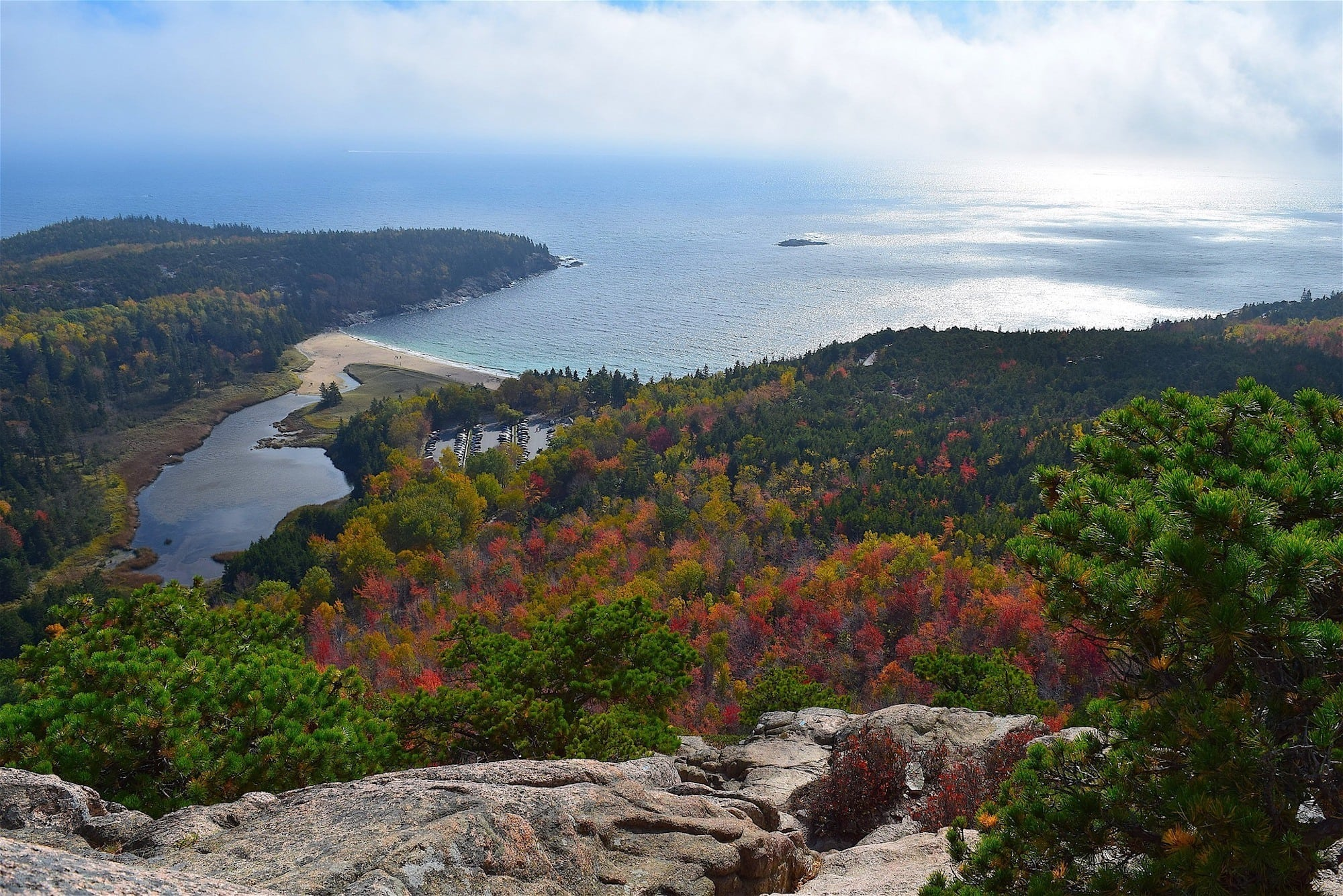 Acadia National Park // Check out the best National Parks to visit in the fall for the a leaf-peeping vacation.