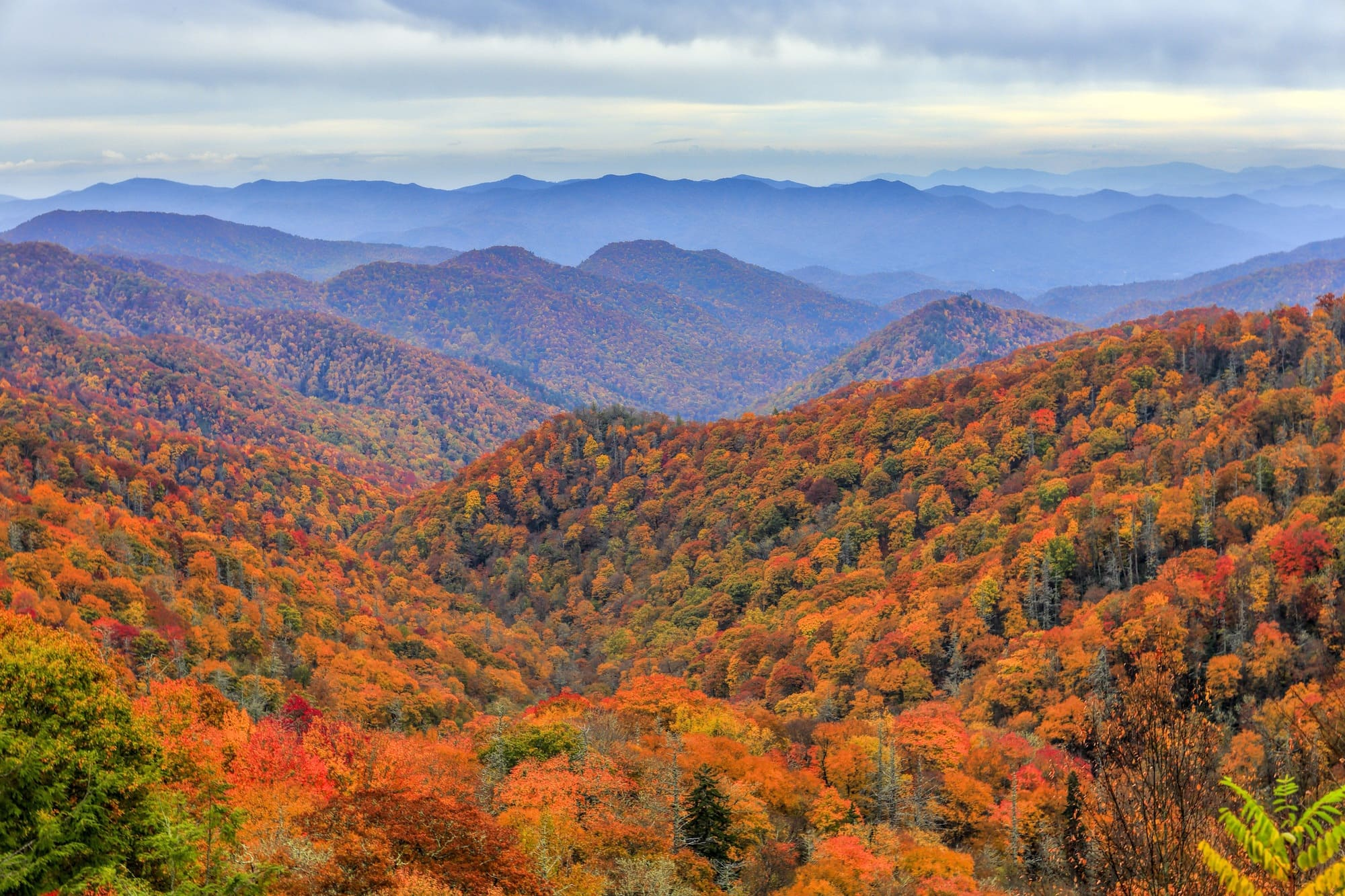 Great Smoky Mountains // Discover the best National Parks to visit during fall for the best leaf-peeping vacation. Get tips on hikes, scenic drives, and more.
