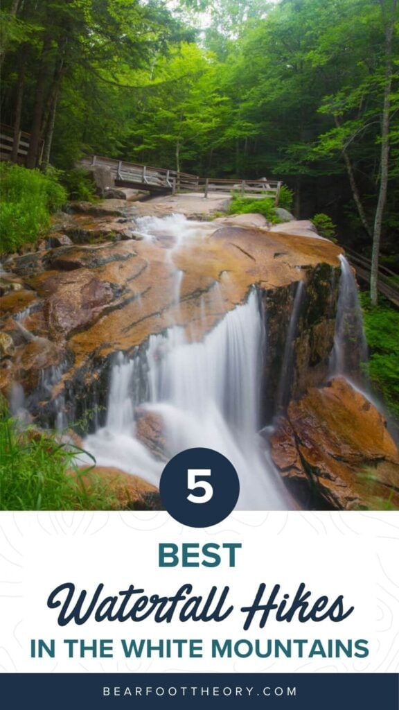 Discover the 5 most scenic White Mountains waterfall hikes in New Hampshire including how to get there and what to expect along the trail.
