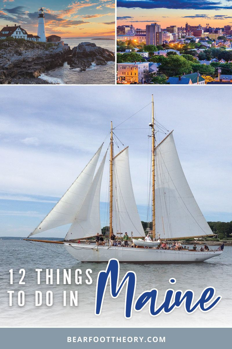 Plan an adventurous trip with these things to do in Portland Maine! This bucketlist will get you outdoors, exploring town & finding the best places to eat/drink.