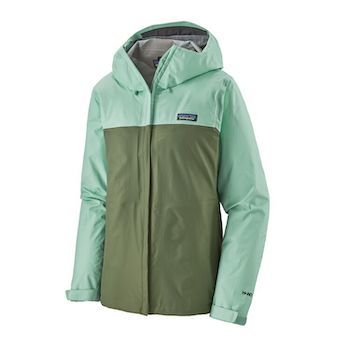 The Patagonia Torrentshell Women's Rain Jacket is a lightweight, eco-friendly rain jacket for women that will protect you from the elements while hiking and camping