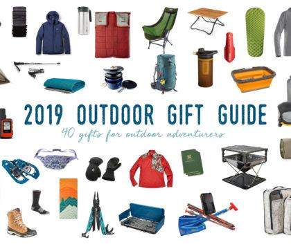 The ultimate gift guide for outdoor lovers featuring gift ideas for him & her, for hikers, backpackers, vanlifers, international travelers, skiers & more.