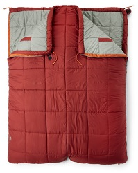 The REI Co-Op Double Sleeping Bag will keep you and your partner cozy and warm on any camping trip or in your rig.