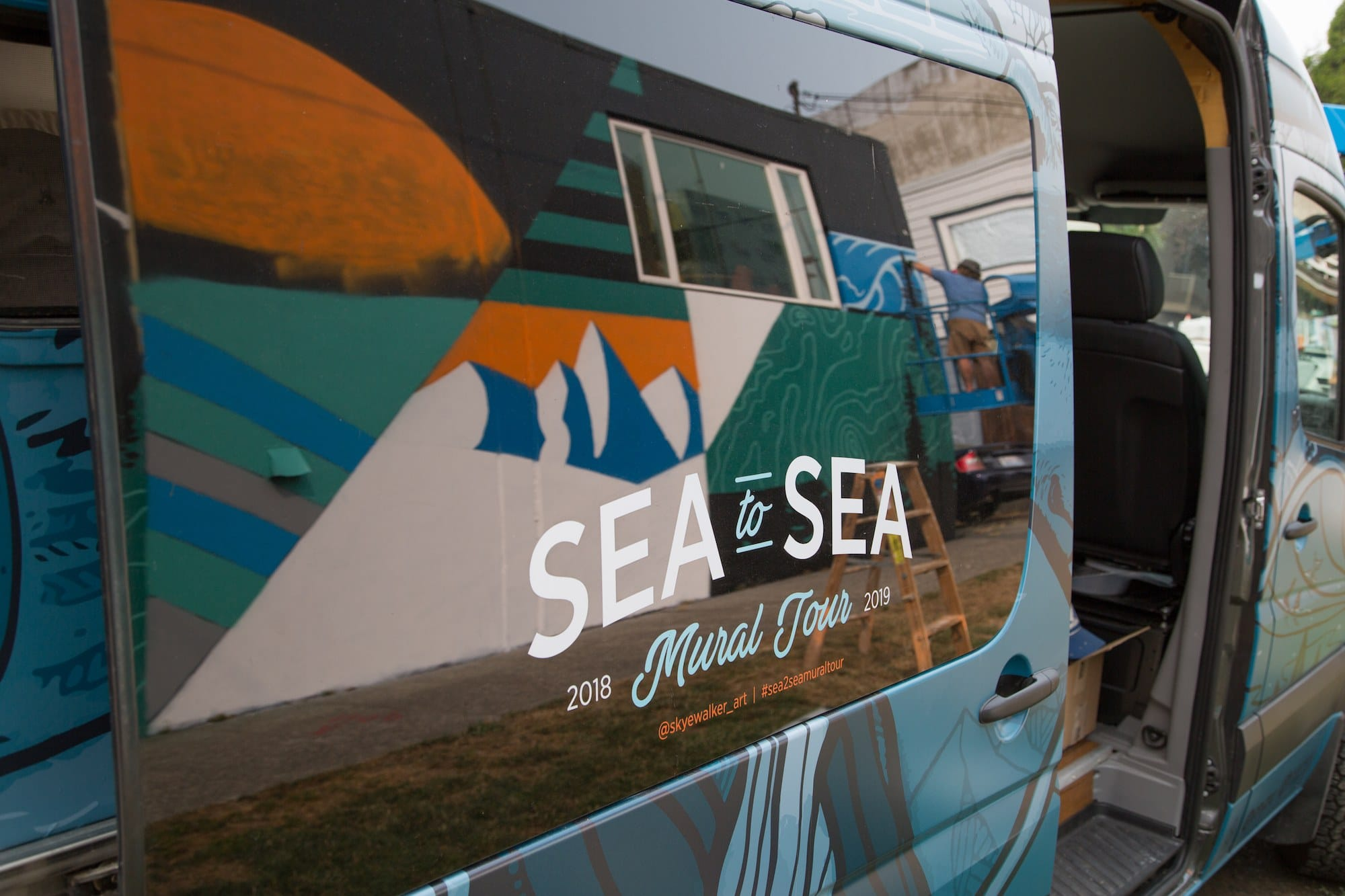 Learn how mural-artist Skye Walker merged his career with full-time Sprinter Vanlife and his tips for pursuing a career on the road.