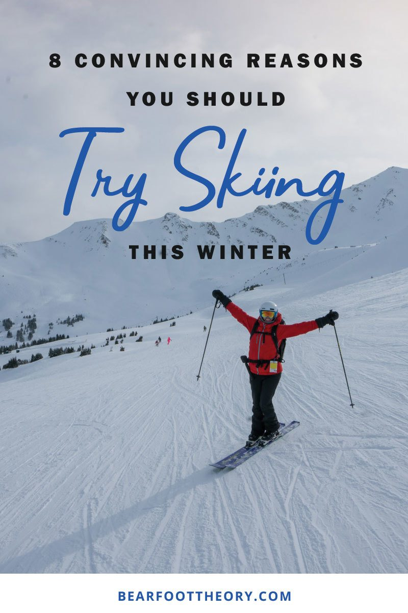 Here are 8 convincing reasons that you should hit the slopes this winter so you can reap the many skiing benefits for your health, confidence and happiness.