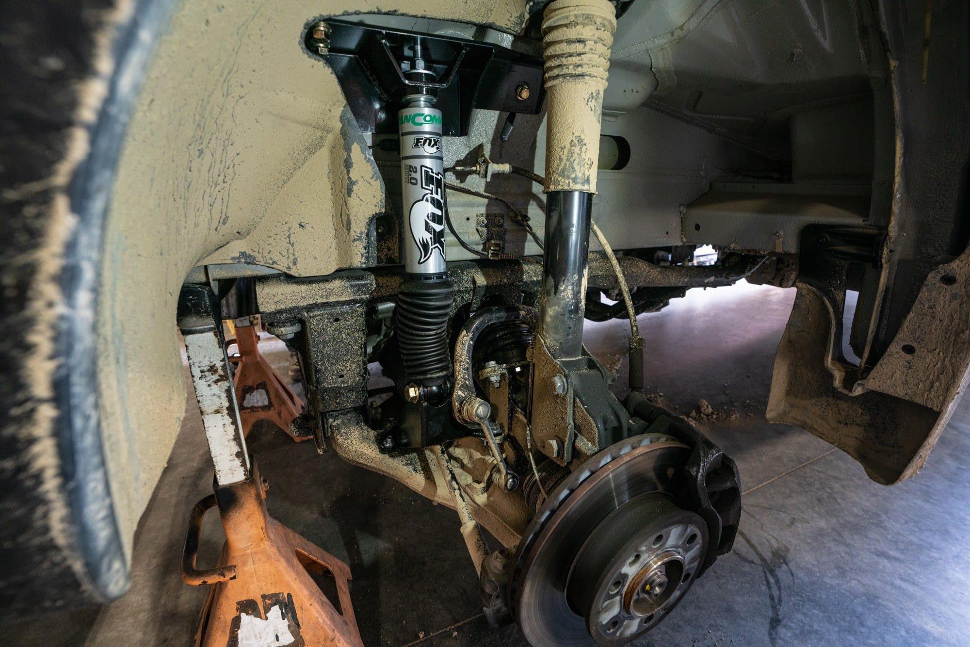 "Custom tuned Van Compass Fox Shocks on a 170"" sprinter van"