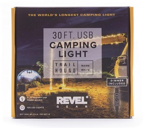 These camping string lights by REVEL GEAR will brighten up any campsite, making them the perfect gift for vanlifers and car campers.