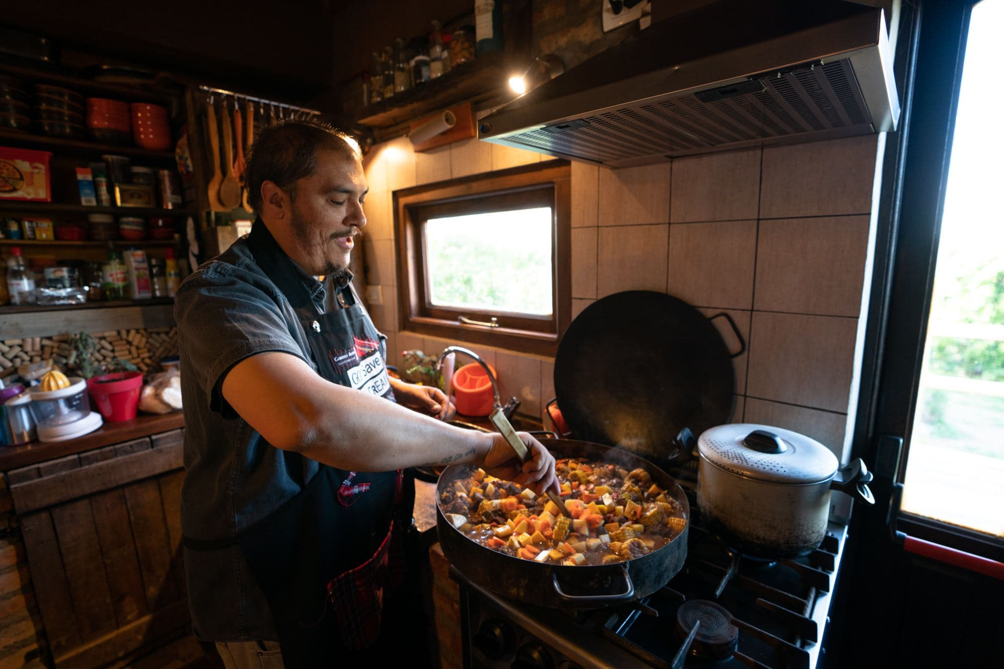 Chef Gabo Carrizo in El Calafate Argentina offers private dinners in his home