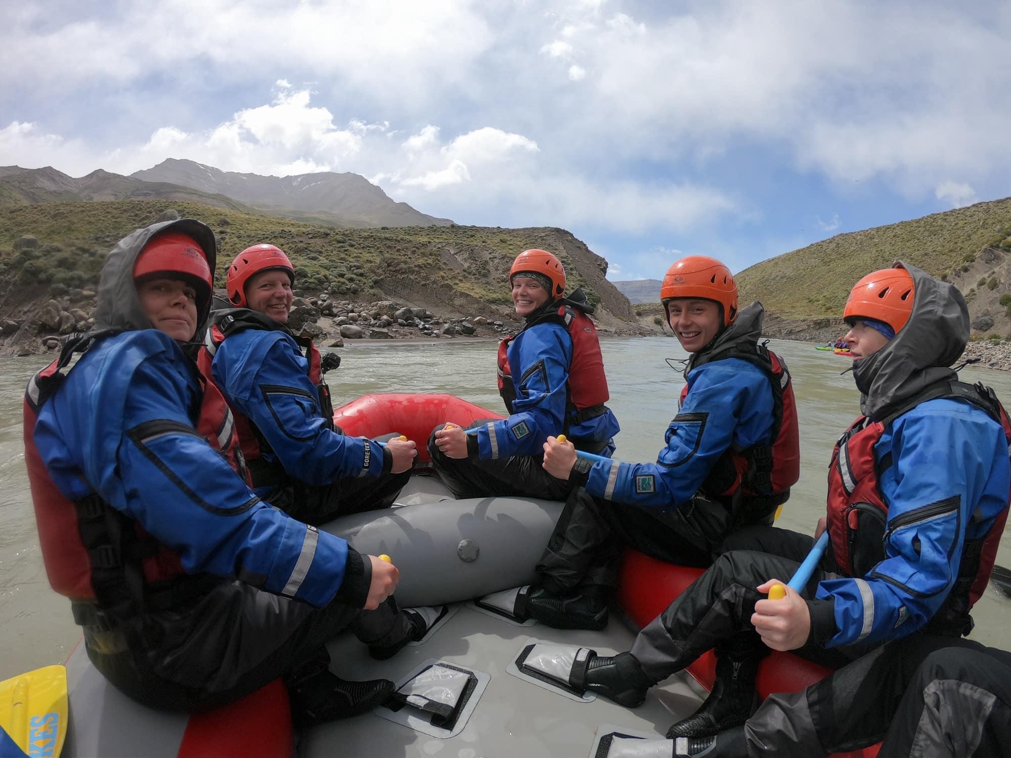 Rafing on the Rio De Las Vueltas River in El Chalten, Argentina on a G Adventures tour