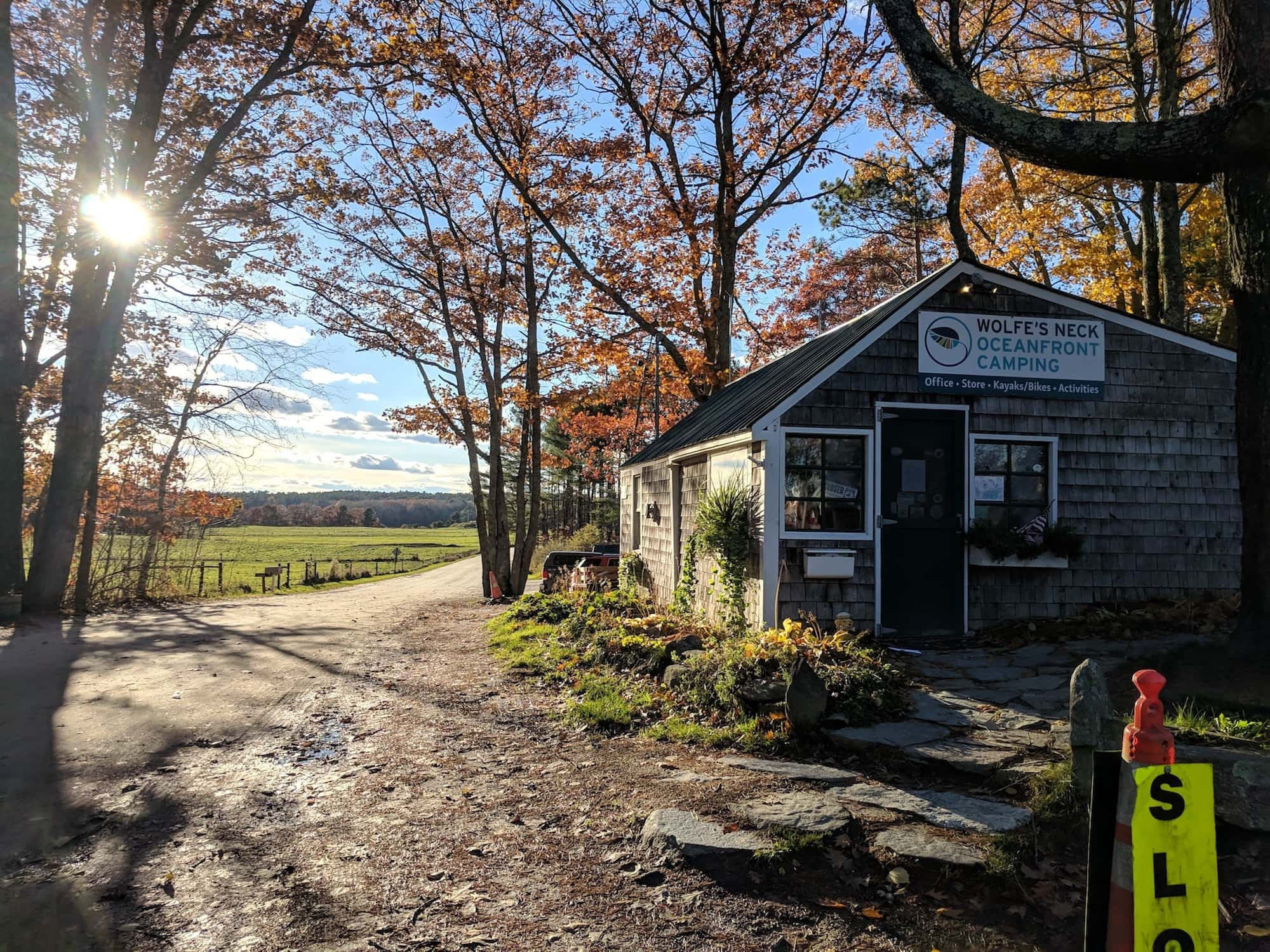 Here's what you need to know to plan a camping trip to Wolfe's Neck State Farm and Oceanfront Campground near Freeport, Maine.
