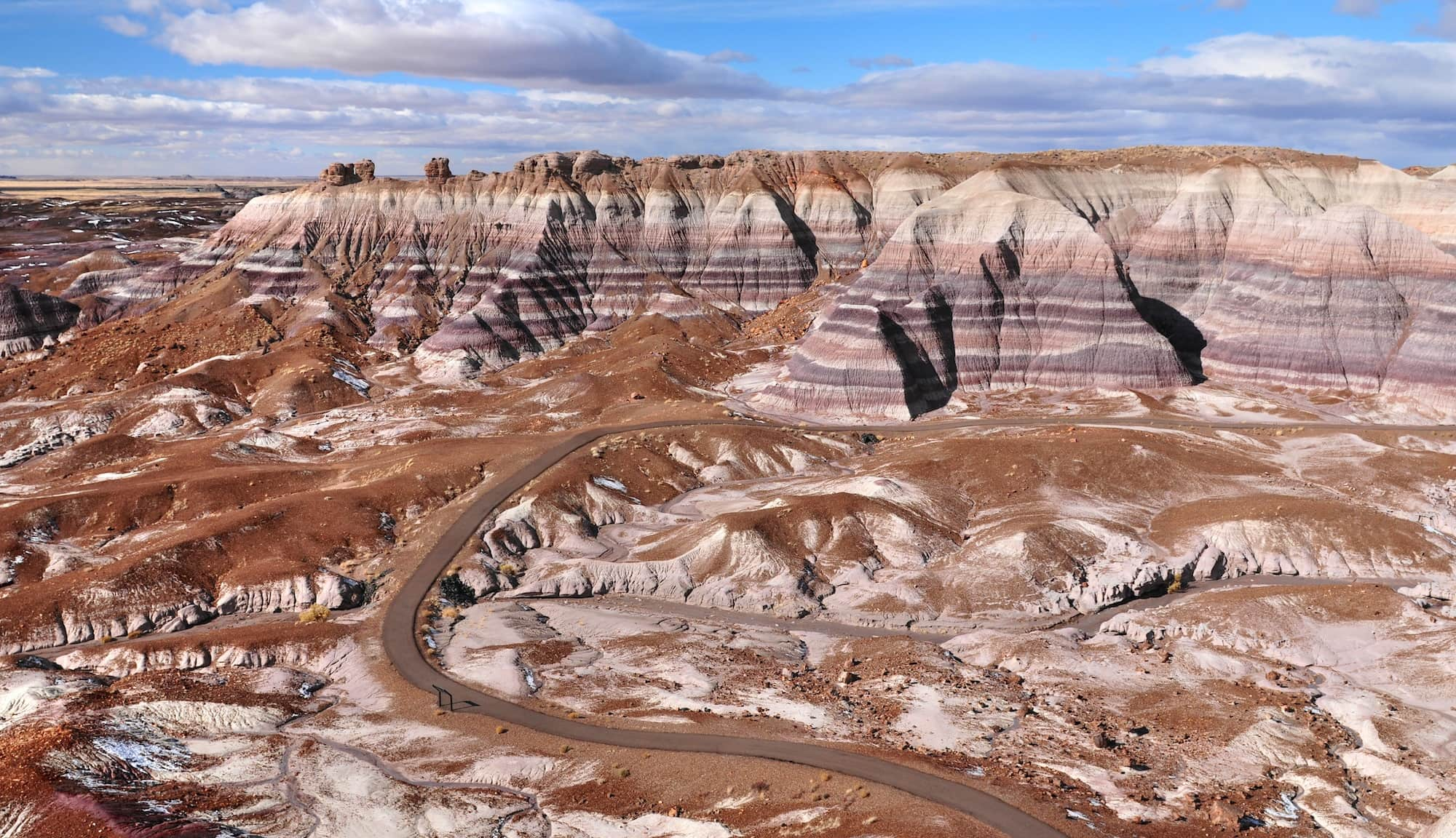Petrified Forest National Park in winter