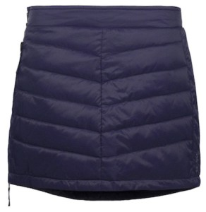 Grabbing drinks after skiing? Quickly throw this SKHOOP Down Mini-Skirt over your long johns and you'll be ready for après. This 600-fill down skirt has a full-length zipper making it easy to put on in the locker room and a convenient pocket for your money, ID, and keys.