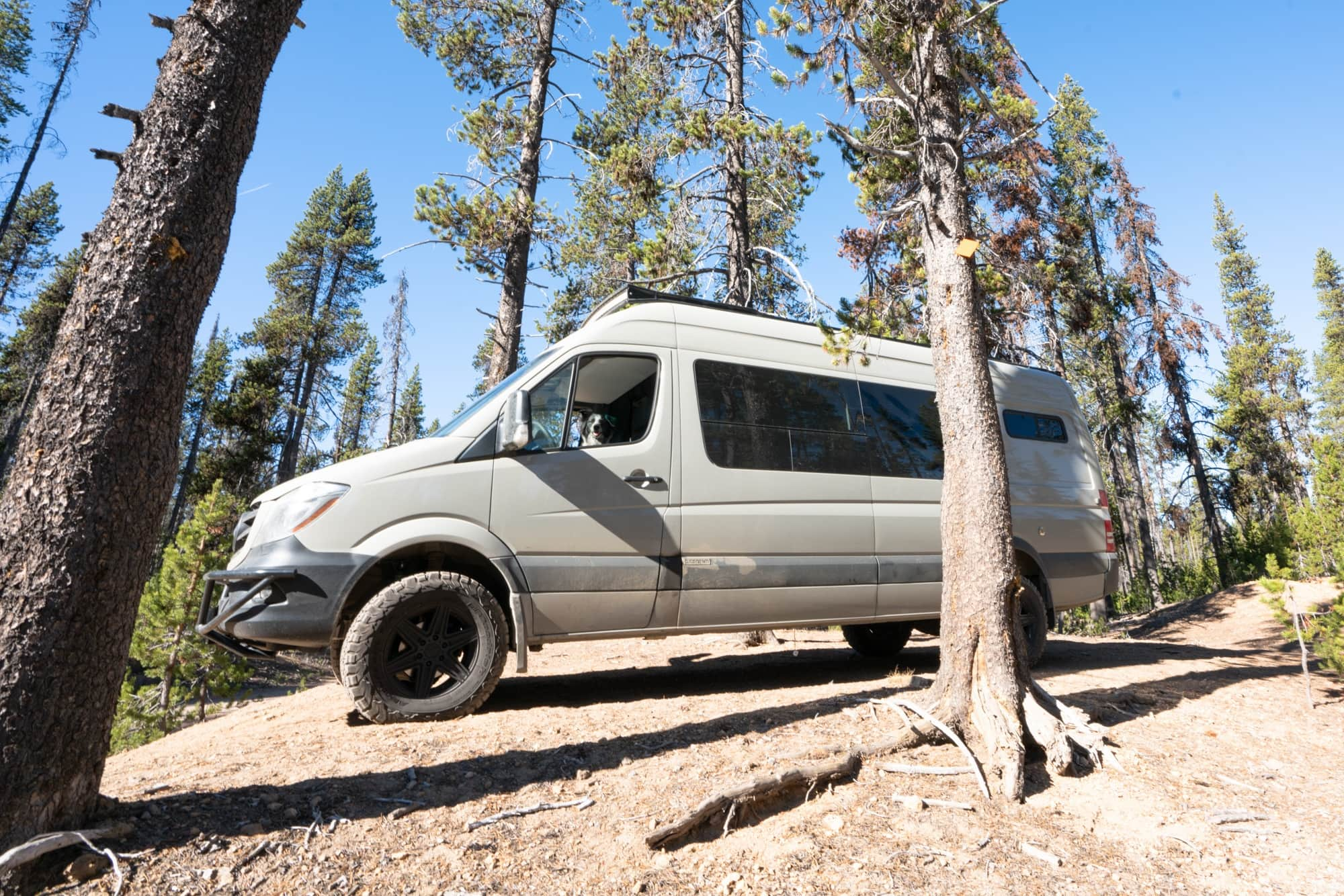 """Are the Van Compass suspension upgrades worth it? Read my Van Compass review & learn how the upgrades have affected the way my 4x4 170"""" Sprinter Van drives."""