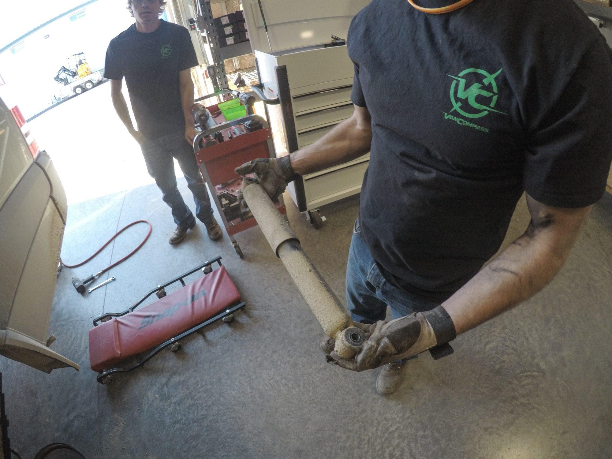 Factory shocks on a sprinter van
