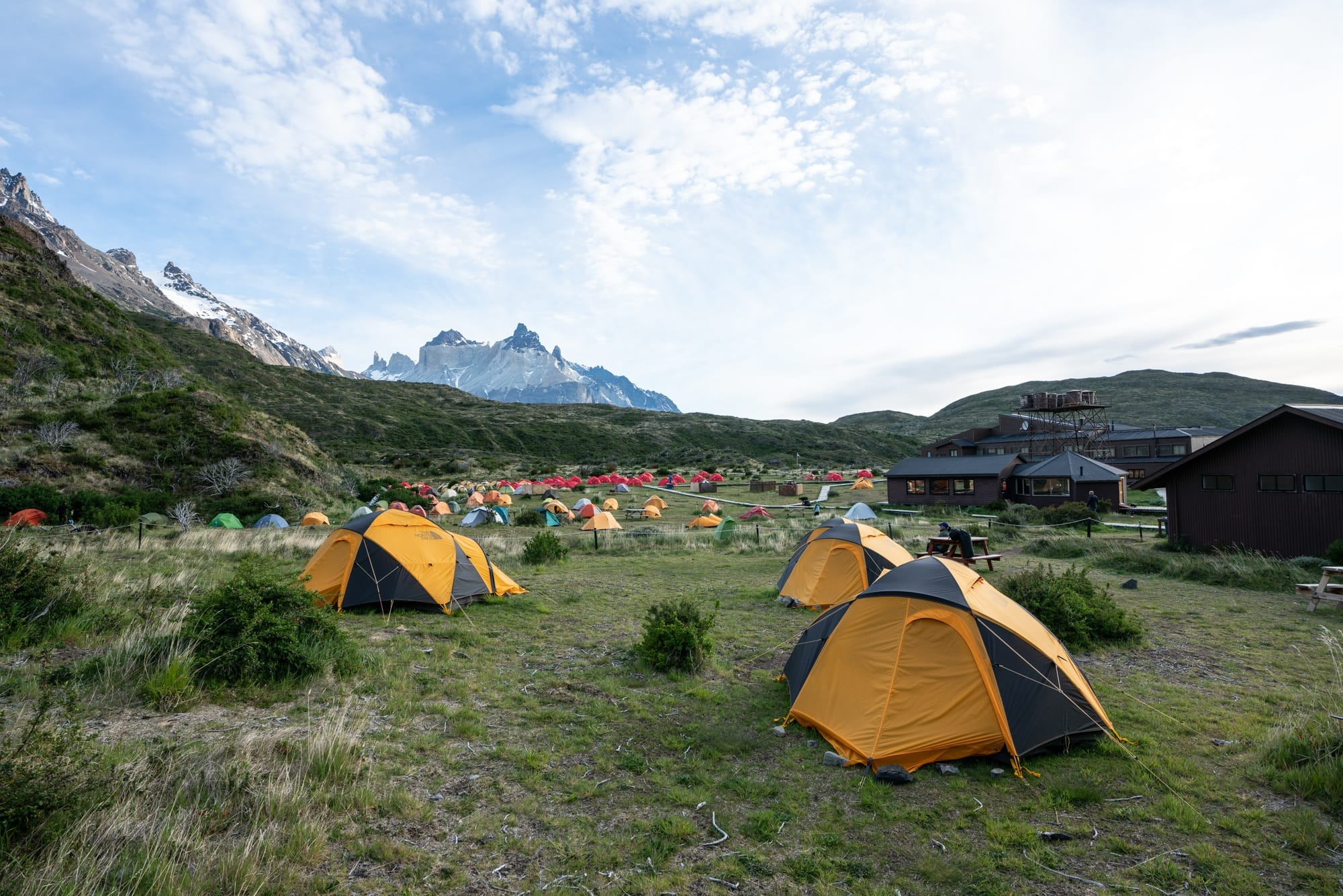 Camping at Refugio Paine Grande on the W Trek