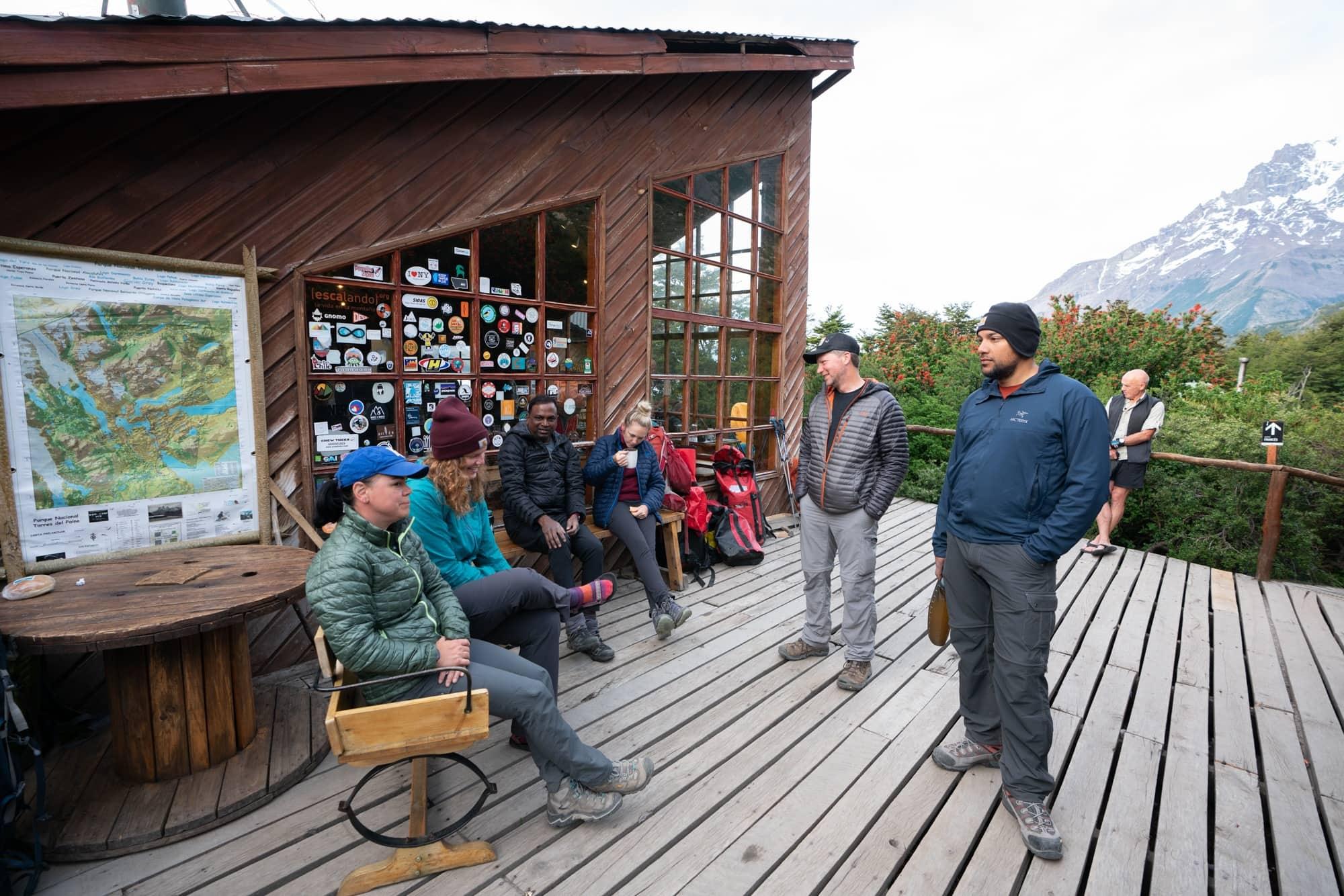 Refugio Los Cuernos on the W Trek in Patagonia