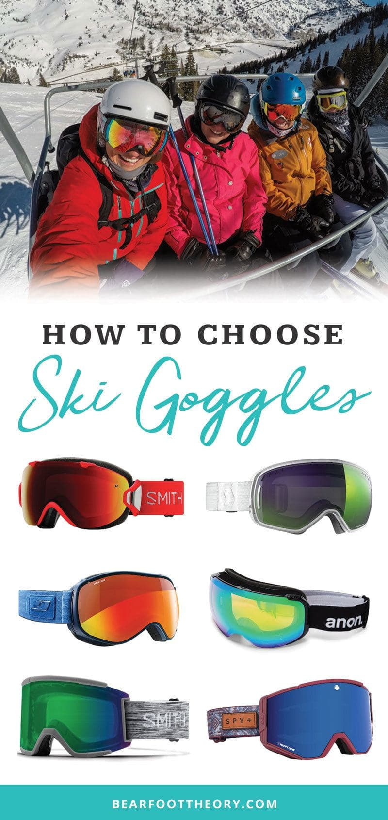 Here's everything you need to know about how to choose ski goggles, including features, fit, lens color & style. We've included our favorite ski goggles too!