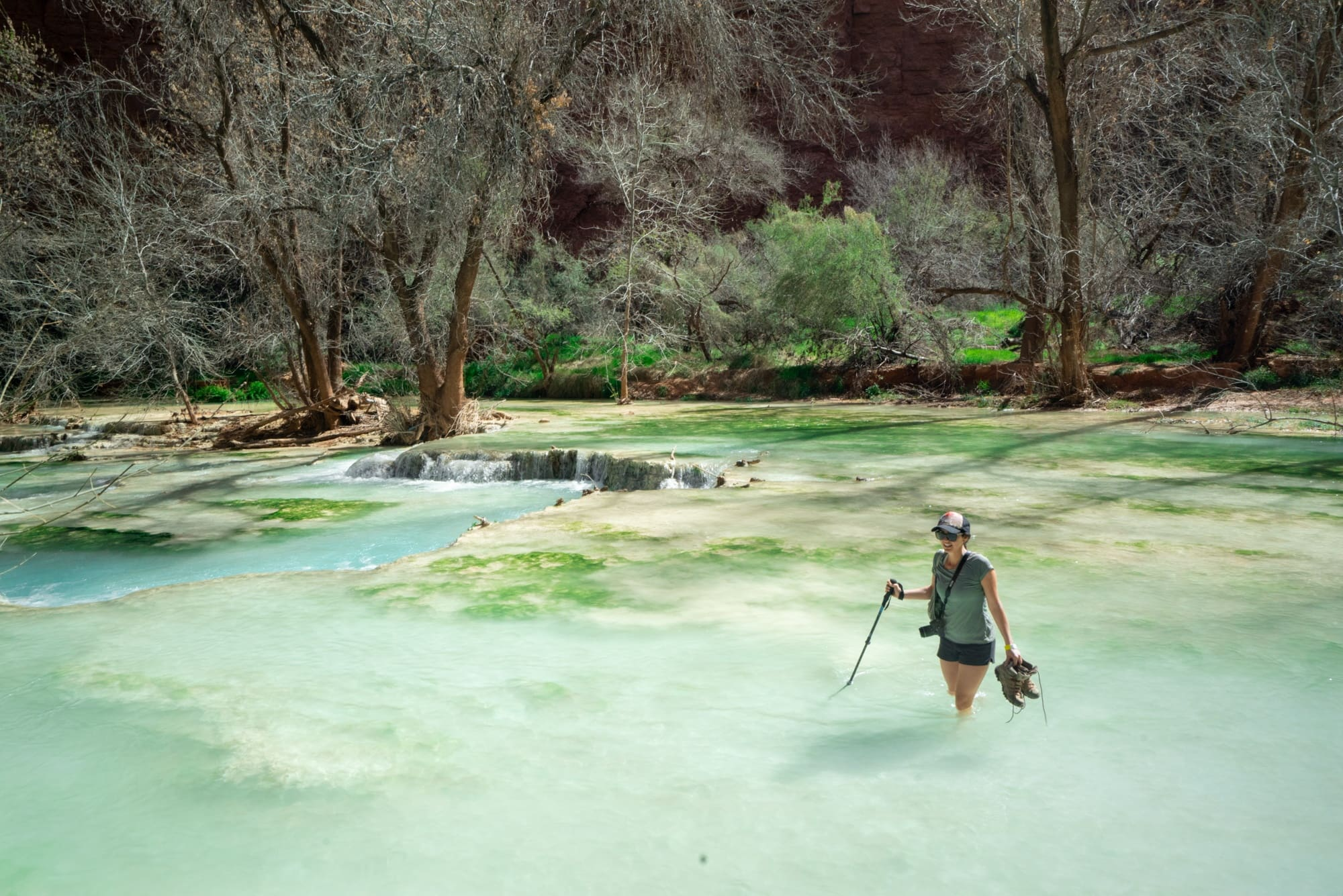 Hiking to Beaver Falls // Get inspired to visit Havasupai in Arizona! Here are my favorite Havasu Falls photos along with tips and advice for planning your backpacking trip.