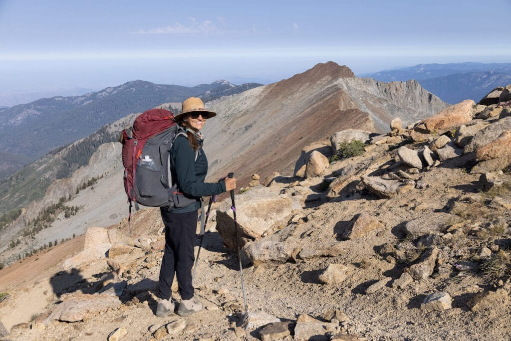 Views from Sawtooth Pass on the Mineral King Loop in Sequoia National Park