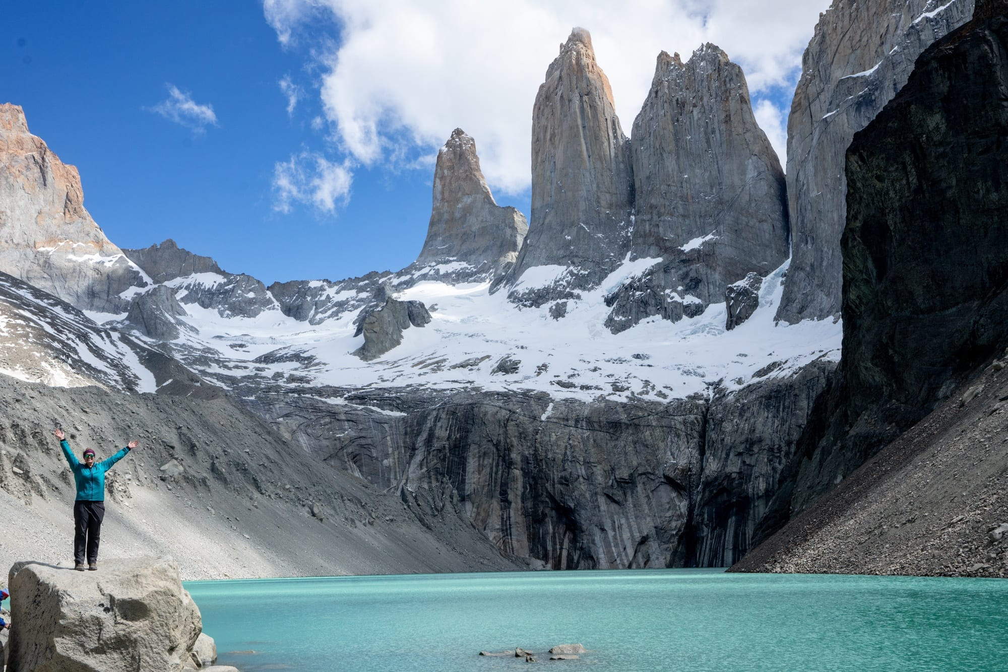 Base of the Towers on the W Trek in Torres Del Paine
