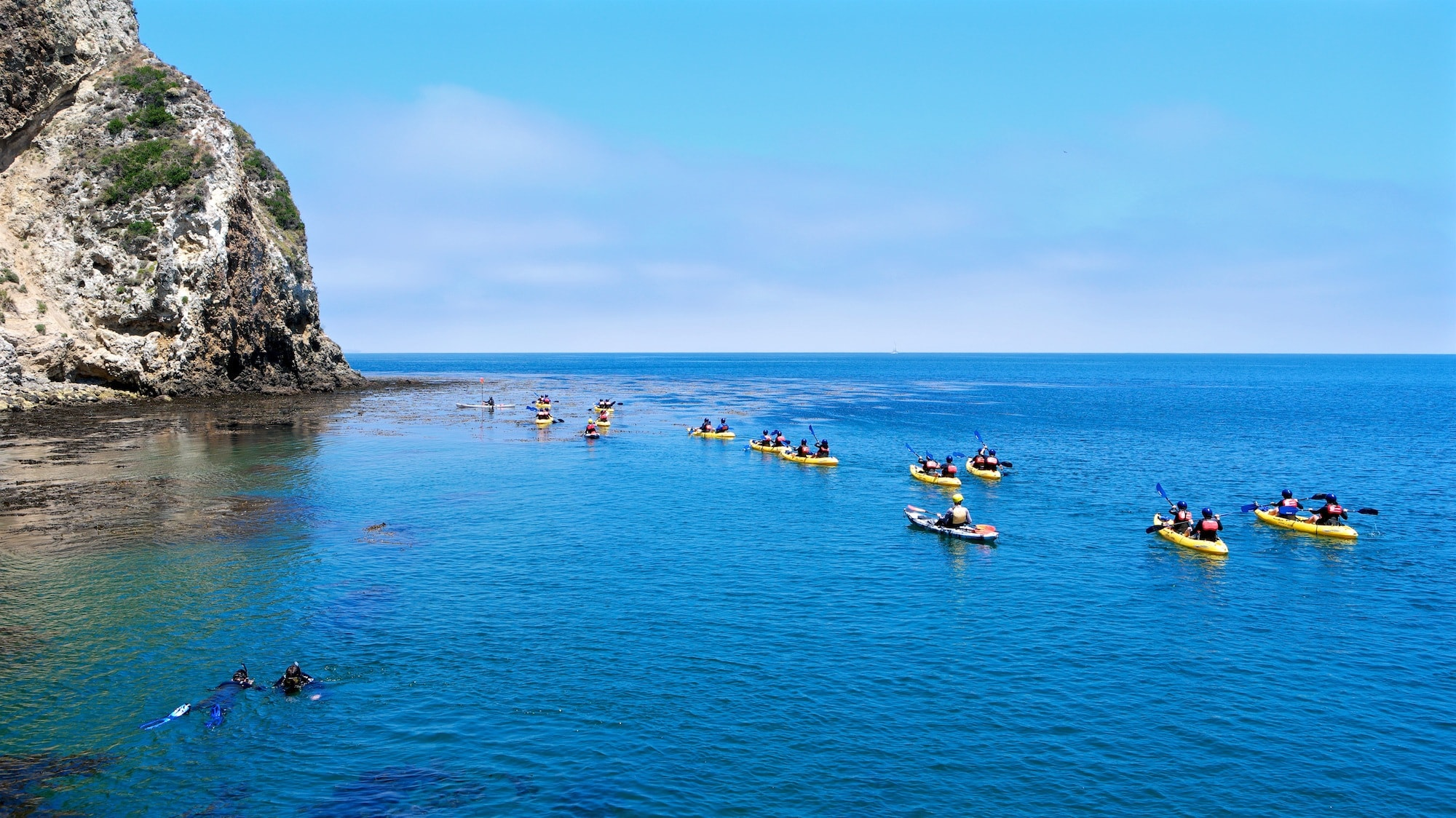 Kayaking off Santa Cruz Island with the Santa Barbara Adventure Company // Get the scoop on camping, hiking, marine life & outdoor adventure in this outdoor enthusiasts guide to the five islands of Channel Islands National Park.