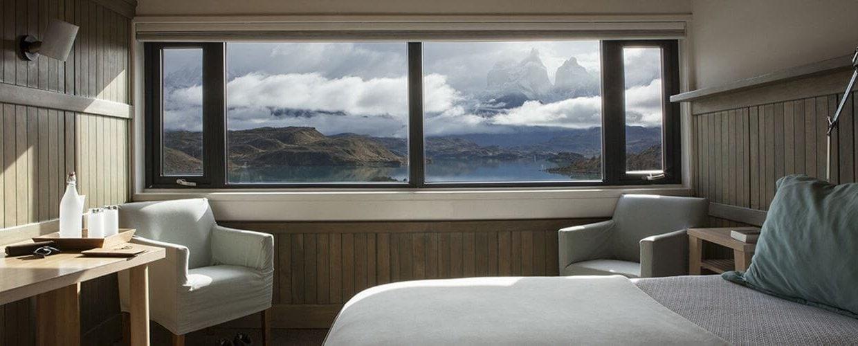 Explora Hotel in Torres del Paine, Patagonia in the winter