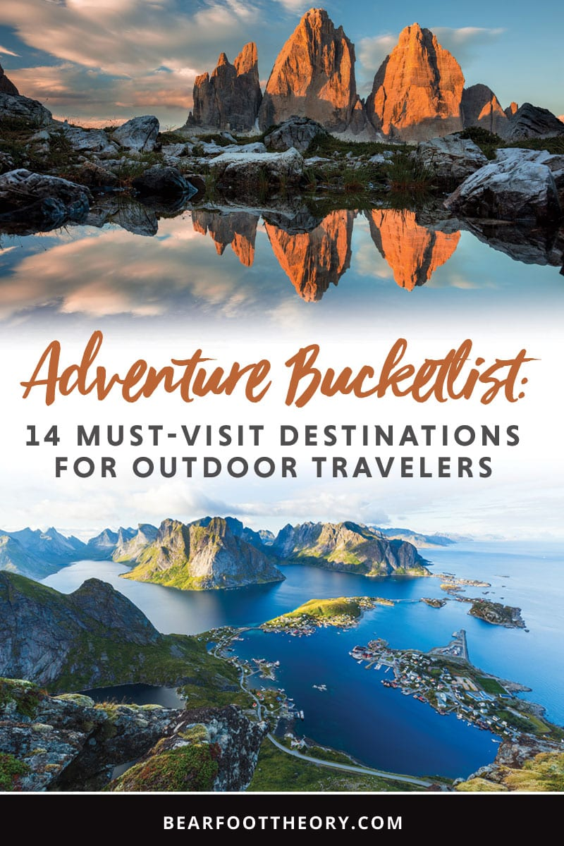A roundup of 14 amazing domestic & international travel destinations at the top of our adventure bucketlist for 2019.