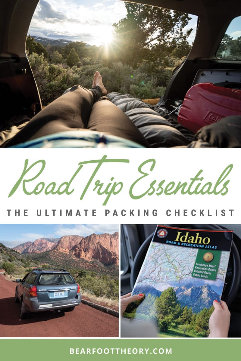 Get my complete road trip essentials packing checklist for adventure travelers that includes all of the things to bring on a camping road trip.