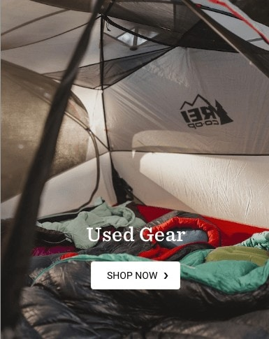 REI Co-op used gear / See why buying used outdoor gear for camping, hiking, and other outdoor adventures is the way to go