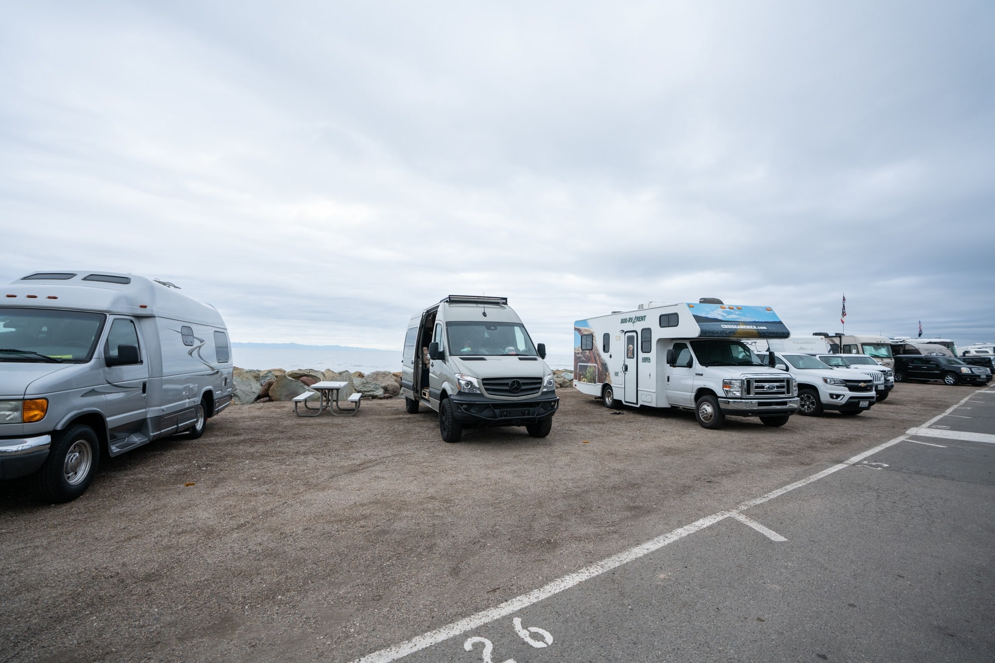 Faria Beach Campground // A 6 day california coast road trip itinerary that combines outdoor adventure travel and local California beach town culture.