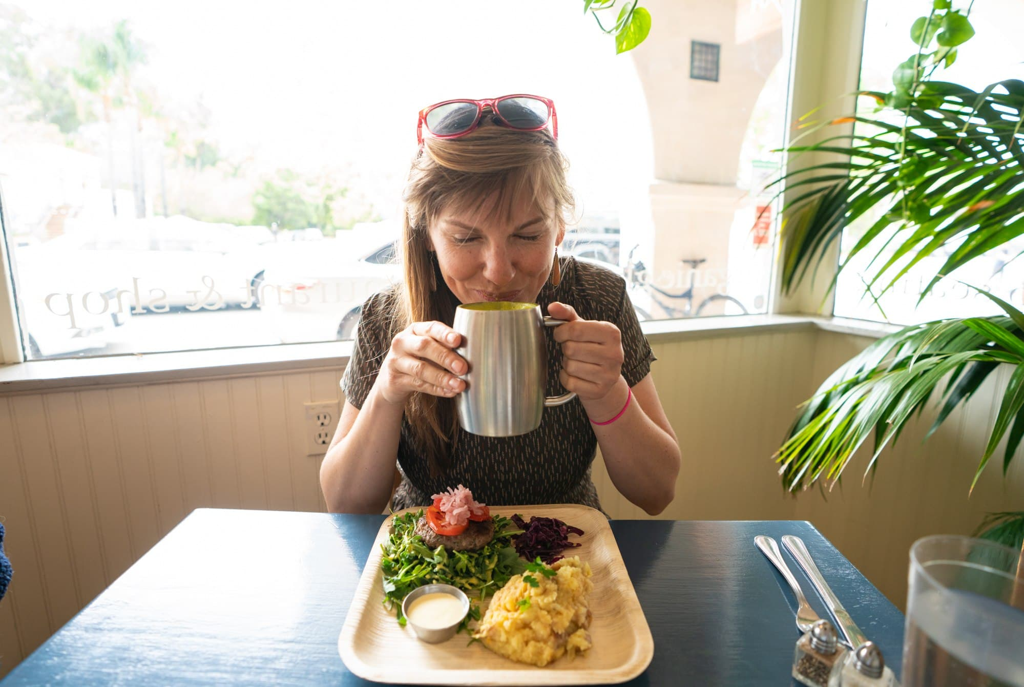 Lunch at Food Harmonics in Ojai // A 6 day california coast road trip itinerary that combines outdoor adventure travel and local California beach town culture.