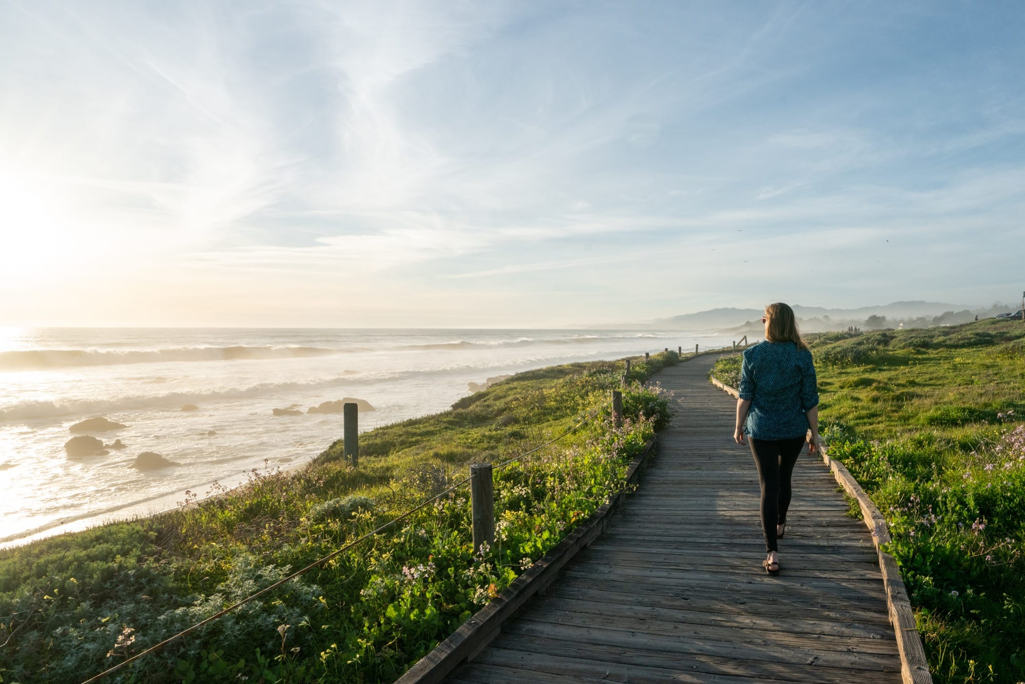 Cambria Moonstone Beach // Plan a 6-day California coast road trip from Ventura to Cambria with this itinerary packed with outdoor adventure, amazing food, and unique places to stay.
