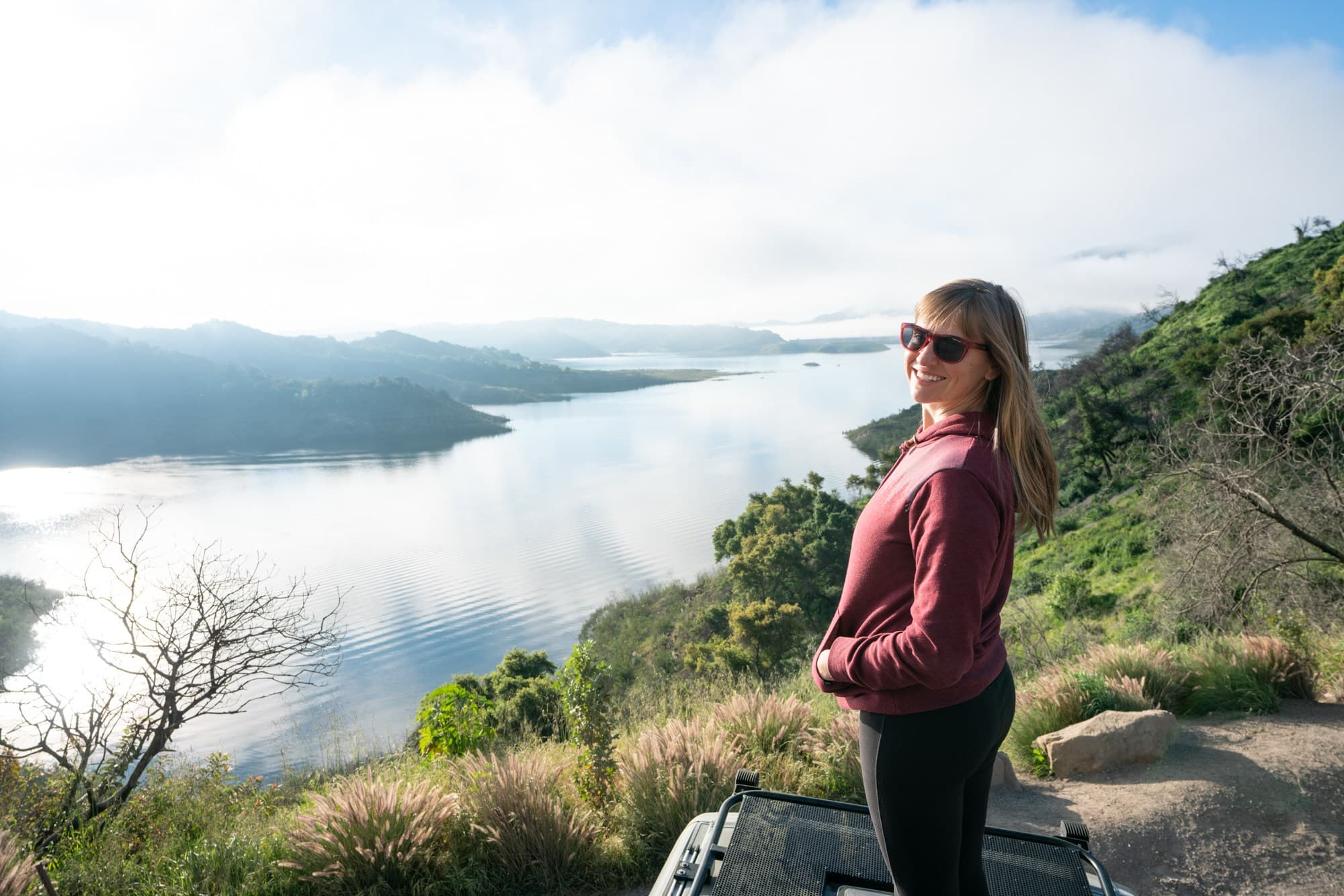 Lake Casitas // A 6 day california coast road trip itinerary that combines outdoor adventure travel and local California beach town culture.