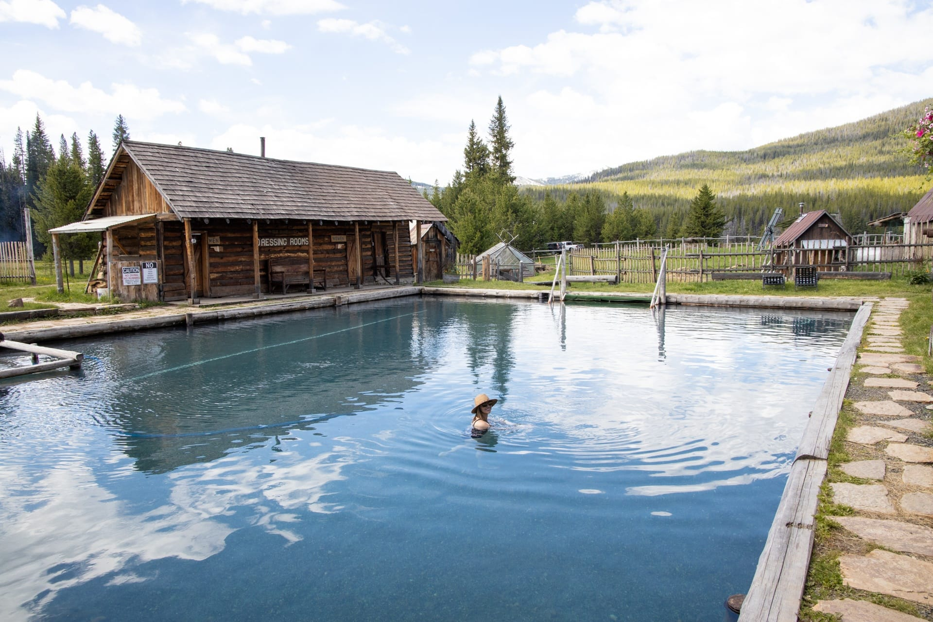 Visiting Burgdorf Hot Springs in McCall, Idaho