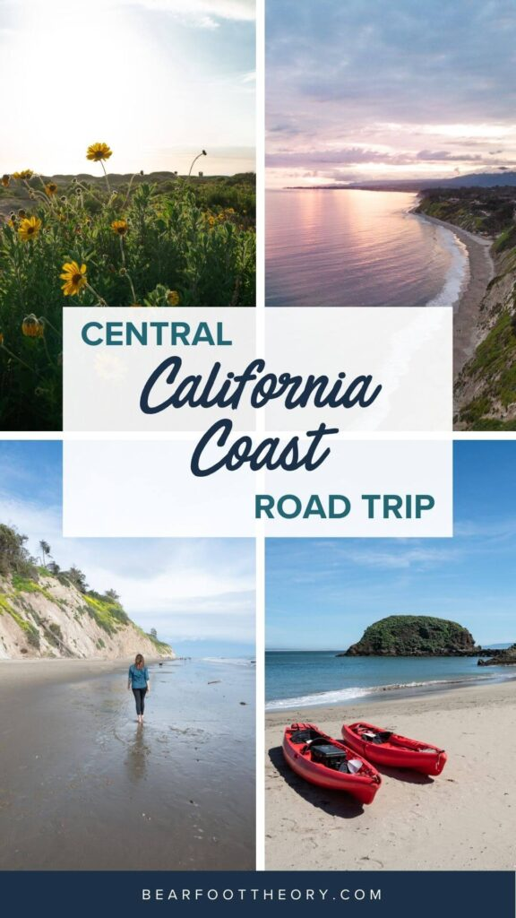 A 6 day central California coast road trip itinerary that combines outdoor adventure travel and local California beach town culture.
