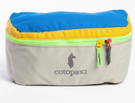 Cotopaxi Fanny Pack - Check out our list of the best fanny packs for hiking, traveling, and road trips that look cool and are functional.